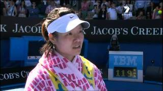 Repeat youtube video Li Na Australian Open post match interview 27th January 2011