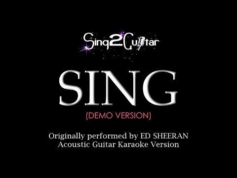 SING (Acoustic Guitar Karaoke Demo) Ed Sheeran