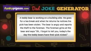 The Funky Pigeon Dad Joke Generator!