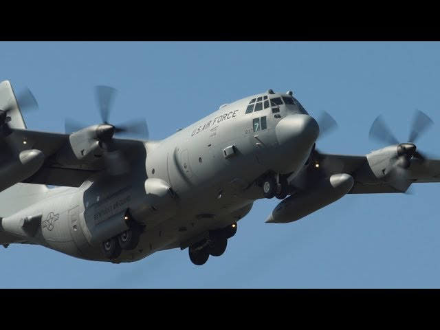 USAF Kentucky Guard C130H, Flight test @ G.Galilei Pisa Airport