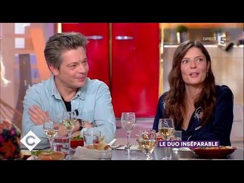 Benjamin Biolay et Chiara Mastroianni au dîner  C à Vous  22112017