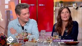 Benjamin Biolay et Chiara Mastroianni au dîner - C à Vous - 22/11/2017