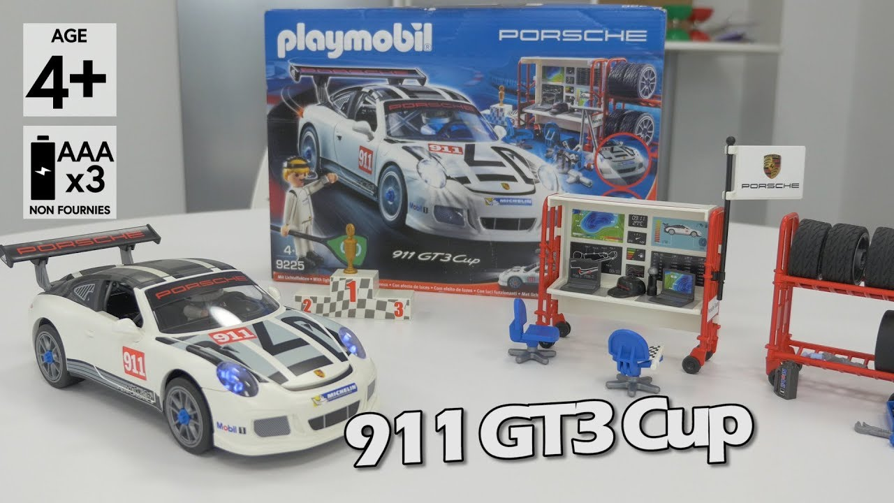 playmobil porsche 911 gt3 cup 9225 d mo en fran ais hd. Black Bedroom Furniture Sets. Home Design Ideas