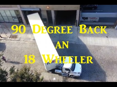 Backing A Tractor Trailer 90 Degrees For CDL School Skills Test Red Viking Trucker