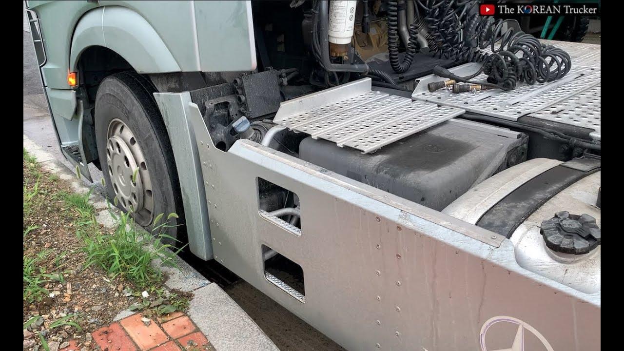 [여성트럭커] 타이어에 자국이 생기는 이유!! ㅋㅋㅋㅋㅋ Korean woman Trucker Tire Failure
