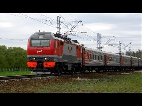 ЭП2К-244 с поездом №121А Санкт-Петербург —  Владикавказ на перегоне Колпино – Саблино