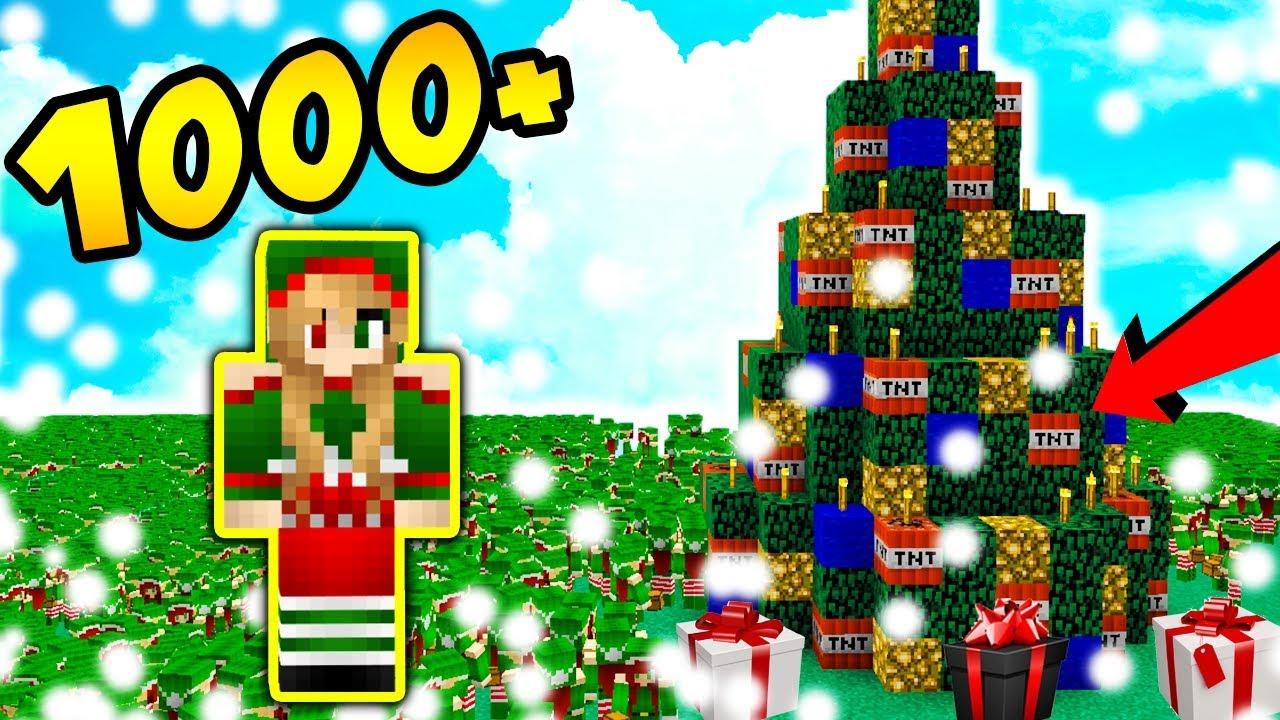 1000 ELFÓW vs CHOINKA Z BOMBKAM TNT!!! – Minecraft Apokalipsa #32