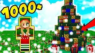 1000 ELFÓW vs CHOINKA Z BOMBKAM TNT!!! - Minecraft Apokalipsa #32