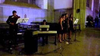 Wedding March, Portuguese version, piano, chorus and violin