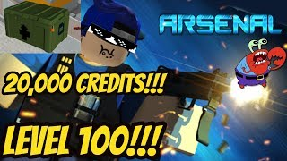 Roblox Arsenal Spending 20,000 Credits on Boxes + Gameplay!