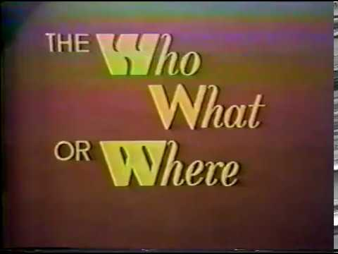 Who, What, or Where Game 1971