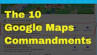 The 10 Google Maps Commandments - Rank your GMB in the Google 3 pack in 7 days