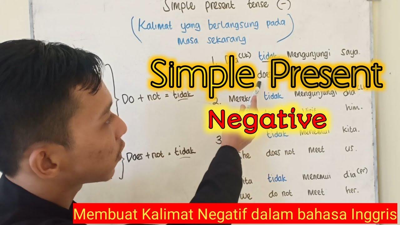 Simple Present negatif 🔴 Belajar bahasa Inggris untuk pemula