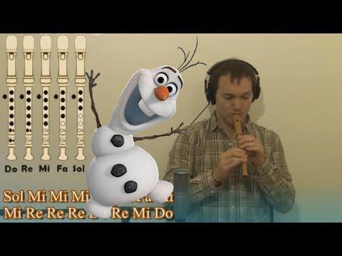 Y Si Hacemos Un Muñeco (FROZEN) En Flauta Dulce Y Guitarra + Notas Explicadas Para Aprenderla!!!