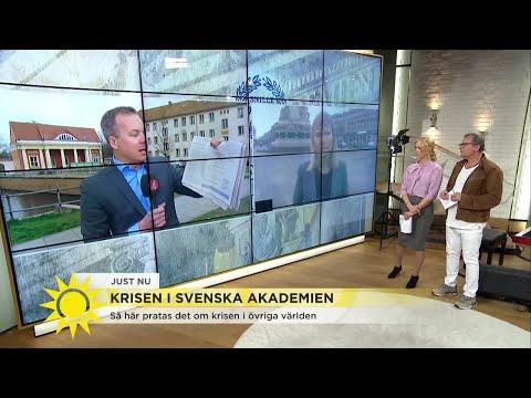 Svenska Akademien skapar rubriker världen över - Nyhetsmorgon (TV4)
