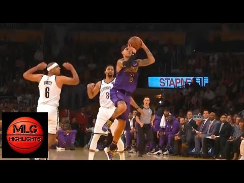 Kyle Kuzma shocks the Lakers crowd after half-court buzzer ! Lakers vs Nets