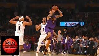 Kyle Kuzma shocks the Lakers crowd after half-court buzzer ! Lakers vs Nets