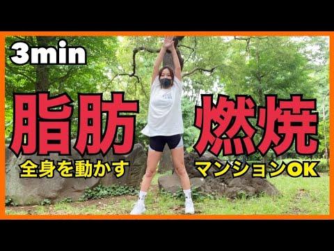 【1日3分】全身を動かして脂肪燃焼!!!