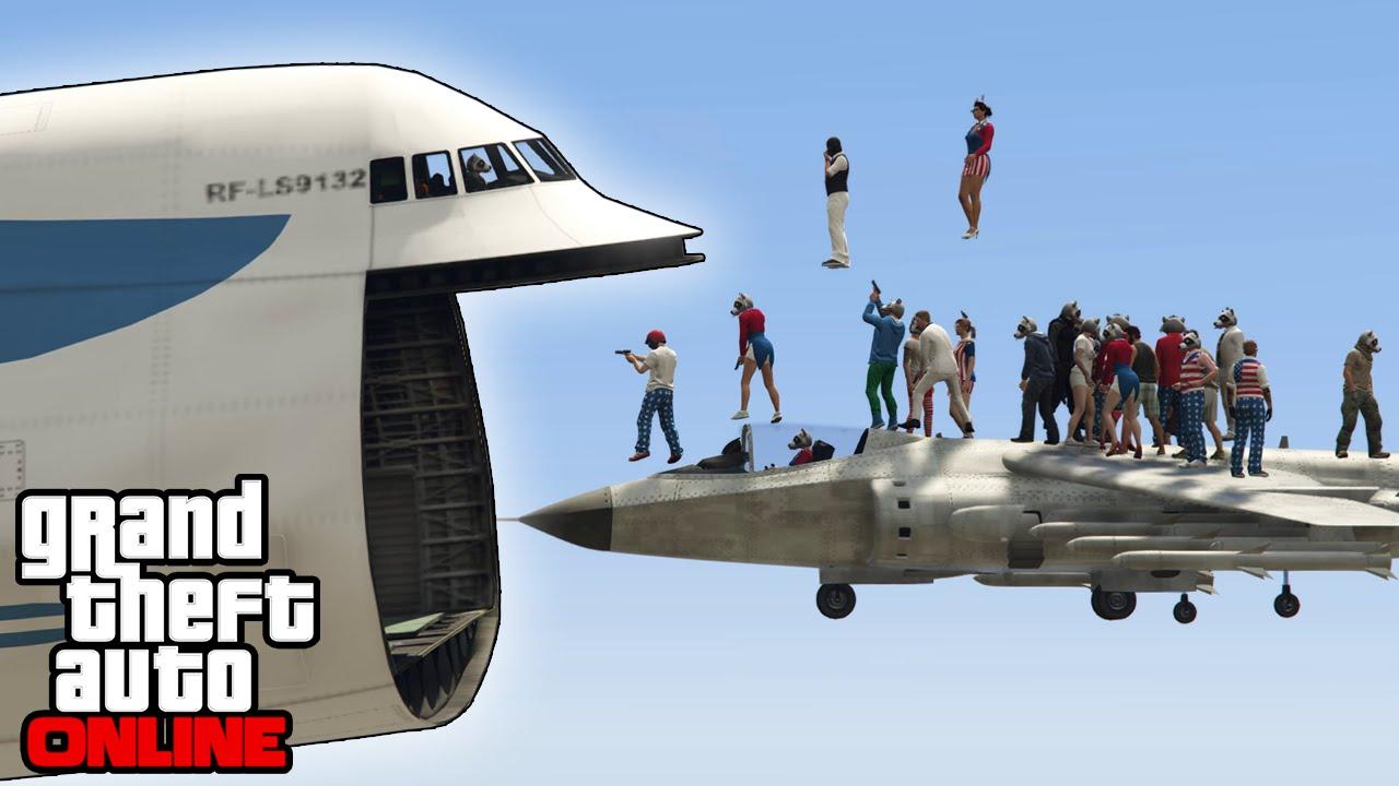 GTA 5 Online - Cargo Plane Stunts, Funny Moments & Shenanigans (Fails &  Game Modes)