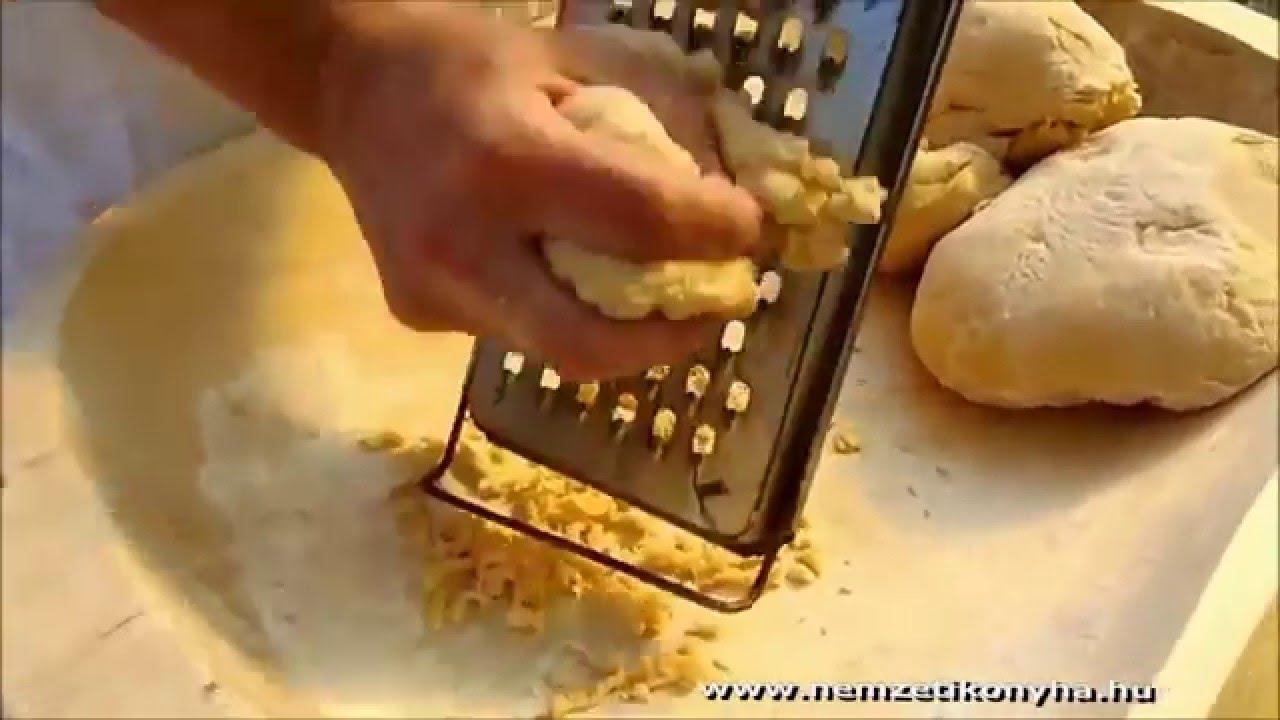 Házi reszelt tarhonya készítése HD - YouTube