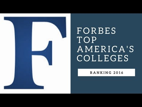 Forbes top American's Colleges