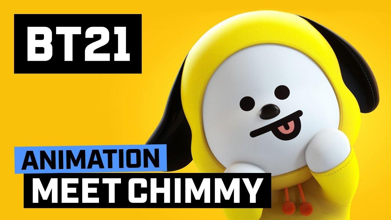 I Love You Heart Wallpaper 3d Animation Bt21 Meet Chimmy Youtube