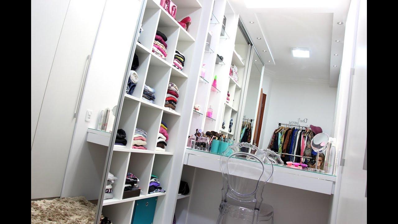 Tour pelo closet vanessa wonsovicz youtube for Working closet modernos