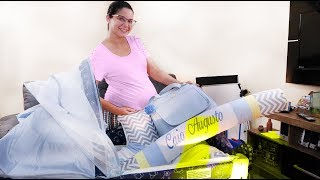 Fazendo as malas do Caio para Maternidade