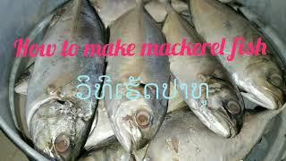 How to make mackerel fish ວິທີໜື້ງປາທູ
