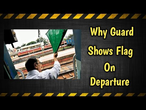 Indian Railways Signalling System | Why Guard Shows Flag....