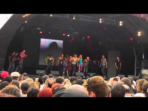 The cast of Mamma Mia performing at West End Live 23/06/12