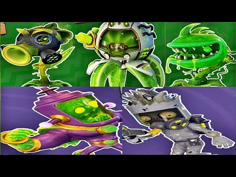 Plants vs Zombies Garden Warfare 2: All Toxic Character Pvzgw2 : Gameplay 2016