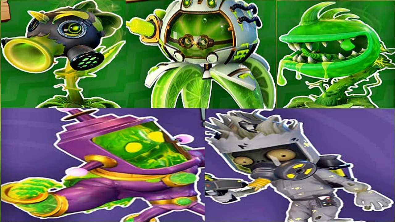 Plants vs zombies garden warfare 2 all toxic character pvzgw2 gameplay 2016 youtube for Plants vs zombies garden warfare characters