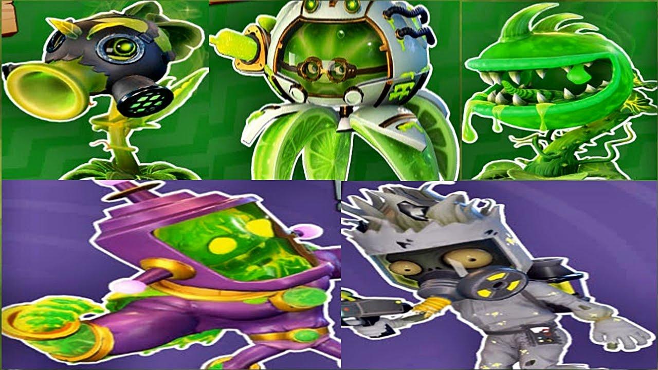 Plants Vs Zombies Garden Warfare 2 All Toxic Character