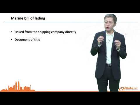 Alibaba Bill Of Lading (Marine)