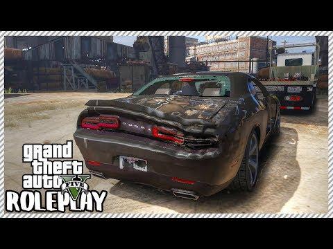 GTA 5 ROLEPLAY - Junkyard Rescue! Dodge Challenger   Ep. 260 Civ