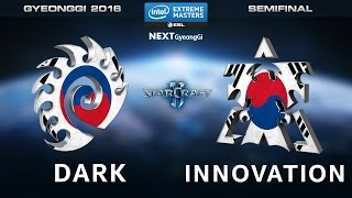 StarCraft 2 - Dark vs. INnoVation [ZvT] - Semifinal Map 1 - IEM Gyeonggi 2016