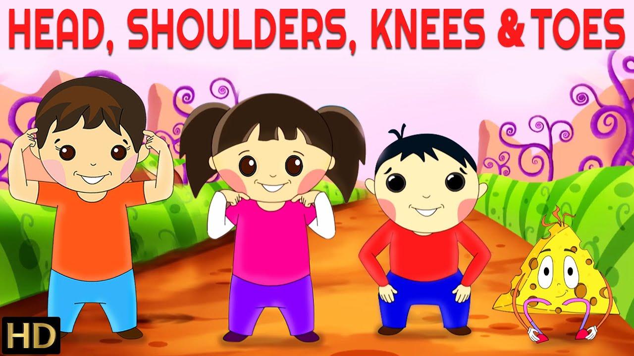 head shoulders knees toes hd nursery rhymes popular kids songs shemaroo kids youtube