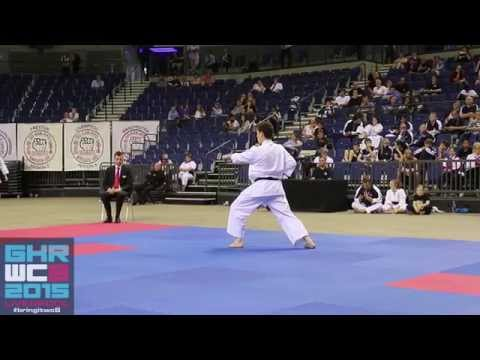 GKR Karate World Cup 2015: Male Open Kata Bronze Medalist, Daniel Carter
