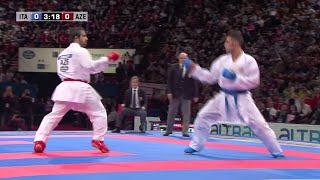 Final Male Kumite -75kg. Luigi Busa vs Rafael Aghayev. World Karate Championships 2012 thumbnail