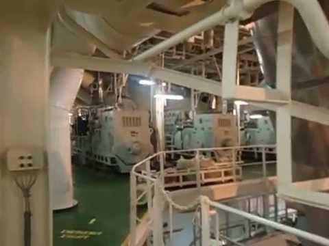 engine room   crude oil tanker