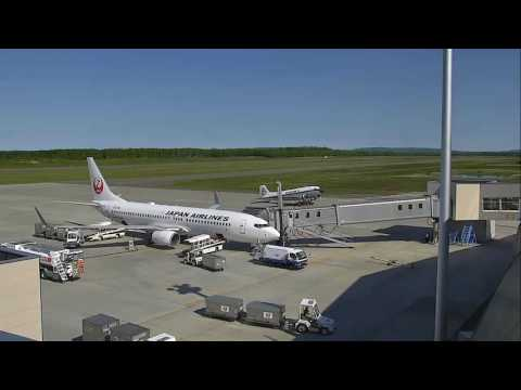 Tokachi Obihiro Airport Ground Services in action. Airport Live cam Recorded.