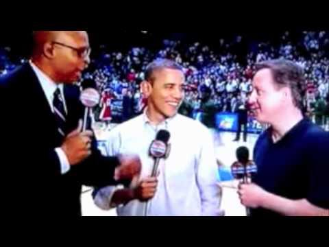 Obama-David Cameron NCAA Tournament halftime Interview