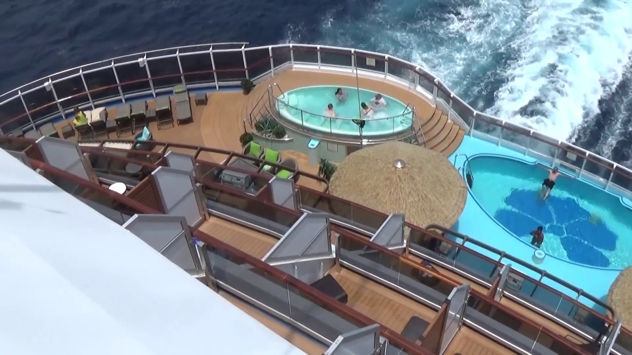 Carnival Vista Havana Cabana Pool Area Youtube