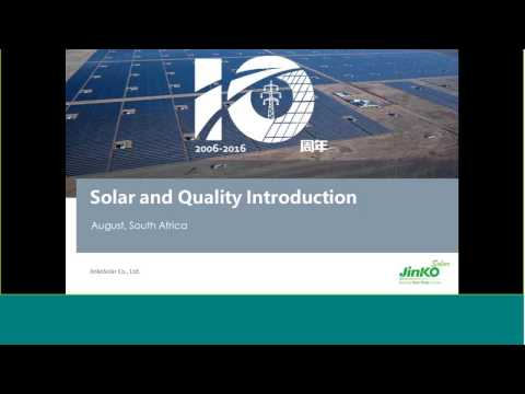 PROINSO Webinar Episode 4 - Jinko Solar explains their product technology and quality control