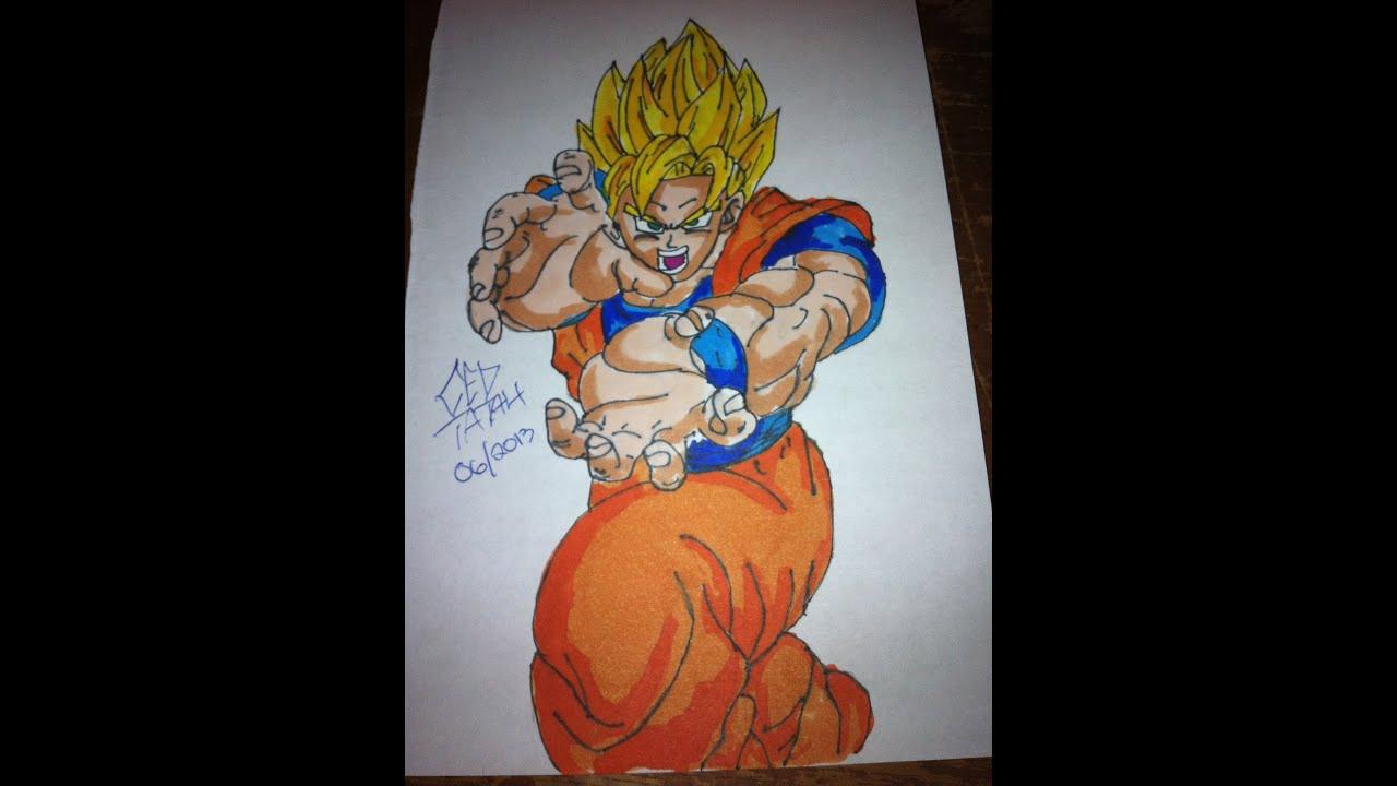 How To Color Dragon ball Z SSJ Goku - YouTube