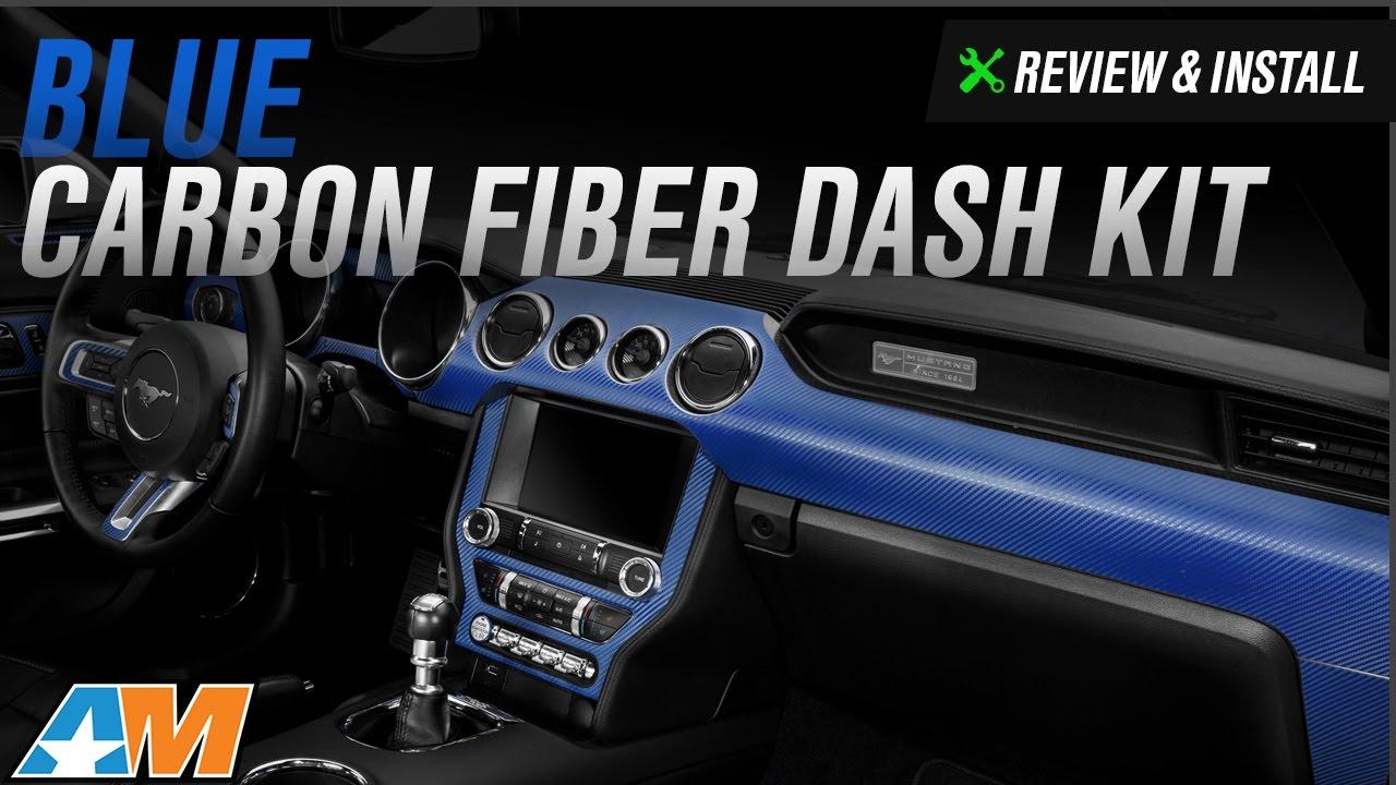 2017 Mustang Blue Carbon Fiber Dash Kit Review Install