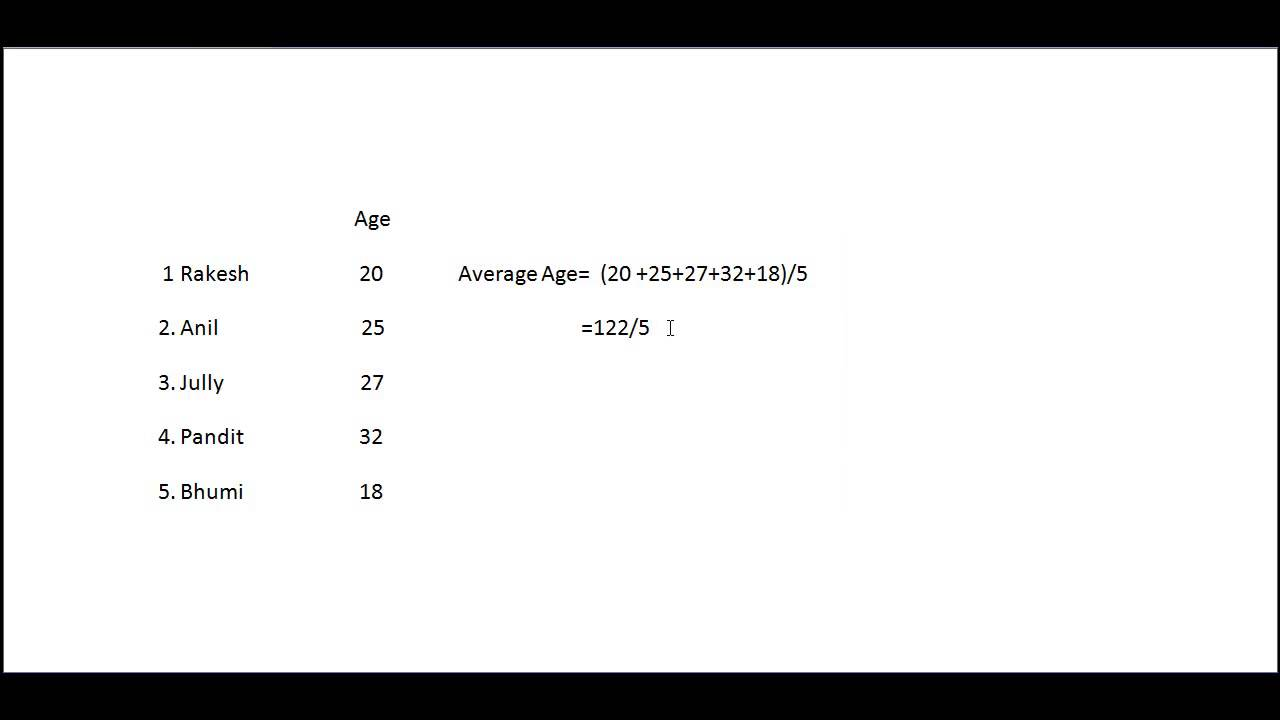 How To Calculate Average Age