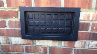 How To Install A Crawl Space Recessed Vent Cover!