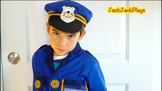 4 Pretend Play Police Skits with Cops & Robber Costumes and Legos